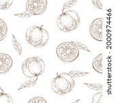 seamless outlined pattern with...   Shutterstock .eps vector #2000974466