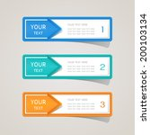 sticker label paper colorful set | Shutterstock .eps vector #200103134