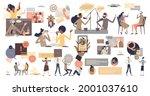 conversation and communication...   Shutterstock .eps vector #2001037610