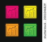 analytics four color glowing...