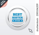 best sister ever sign icon....