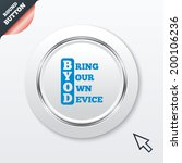 byod sign icon. bring your own... | Shutterstock . vector #200106236