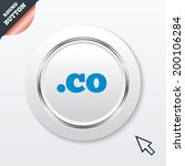 domain co sign icon. top level...