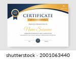 white certificate design with... | Shutterstock .eps vector #2001063440