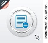 text file sign icon. delete...