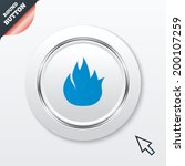 fire flame sign icon. fire...