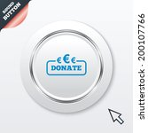 donate sign icon. euro eur...