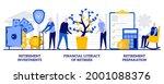 retirement investments ... | Shutterstock .eps vector #2001088376