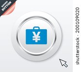 case with yen jpy sign icon....