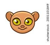 cute cartoon philippine tarsier ... | Shutterstock .eps vector #2001101849