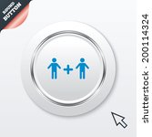 couple sign icon. male plus...
