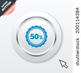 50 percent discount sign icon....