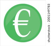 green euro icon. currency sign...   Shutterstock .eps vector #2001149783