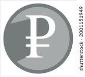 grey russian ruble icon...   Shutterstock .eps vector #2001151949