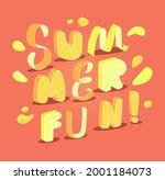 summer fun phrase on the dark...   Shutterstock .eps vector #2001184073