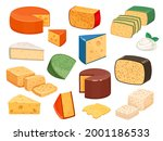 cheese types. cartoon cutted...   Shutterstock .eps vector #2001186533