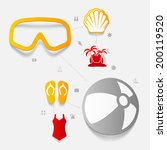 set of summer tourism icons | Shutterstock .eps vector #200119520