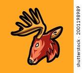 deer or true deer are hoofed...   Shutterstock .eps vector #2001198989