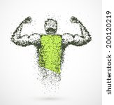muscular abstract man  eps 10 | Shutterstock .eps vector #200120219