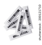 Small photo of Several RFID tags on white background