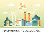 recycling carbon dioxide... | Shutterstock .eps vector #2001226703