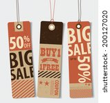 price tag  sale coupon  voucher.... | Shutterstock .eps vector #200127020