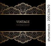 vintage gold background ... | Shutterstock .eps vector #200128670