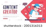 content creator concept banner...   Shutterstock .eps vector #2001316313