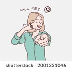 young woman smiling doing... | Shutterstock .eps vector #2001331046