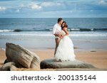 gorgeous bride in a wedding... | Shutterstock . vector #200135144
