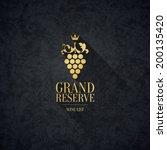 label  logo design winery | Shutterstock .eps vector #200135420
