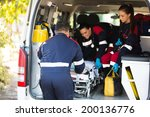 ambulance team pulling a... | Shutterstock . vector #200136776