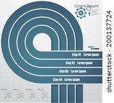 design clean number banners... | Shutterstock .eps vector #200137724