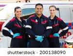 Group Of Paramedics Standing I...