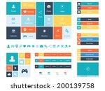 web design elements  buttons ... | Shutterstock .eps vector #200139758