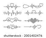 cardiogram heartbeat tattoo...   Shutterstock .eps vector #2001402476