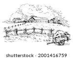 rural scenery landscape...   Shutterstock .eps vector #2001416759