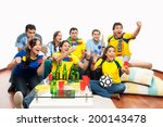group of friends celebrating... | Shutterstock . vector #200143478
