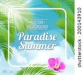vintage beach poster. vector... | Shutterstock .eps vector #200143910