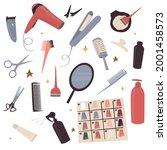 icons of hairdresser... | Shutterstock .eps vector #2001458573