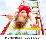 little girl having fun playing... | Shutterstock . vector #200147399