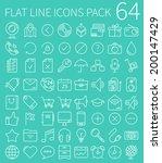 flat vector line icons | Shutterstock .eps vector #200147429
