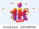 banner with 1k followers thank... | Shutterstock .eps vector #2001483509