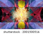 abstract geometric watercolor... | Shutterstock . vector #2001500516