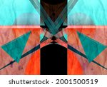 abstract geometric watercolor... | Shutterstock . vector #2001500519