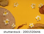 top view tropical leaves on...   Shutterstock . vector #2001520646