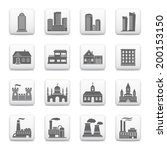 web buttons  building icons | Shutterstock .eps vector #200153150
