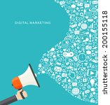 digital marketing flat