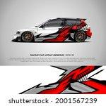 racing car wrap design vector... | Shutterstock .eps vector #2001567239