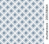 indigo blue hand drawn seamless ... | Shutterstock .eps vector #200158064
